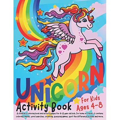 Unicorn Activity Book for Kids ages 4-8: A children's ...