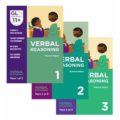 Revised for 2019 – GL Assessment 11+ Practice Papers Bundle of All Verbal Reasoning 11+ Practice Packs (3 Packs)