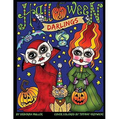 Halloween Darlings: Cute, Whimsical and Fun Halloween Trick or Treaters to color. Perfect Halloween Coloring fun for all ages. By Deborah Muller
