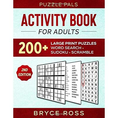 ACTIVITY BOOK FOR ADULTS: 200+ Large Print Puzzles