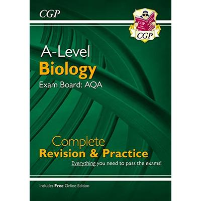 NEW A-Level Biology: AQA Year 1 & 2 Complete Revision & Practice with Online Edition (CGP A-Level Biology) (Packing May Vary)