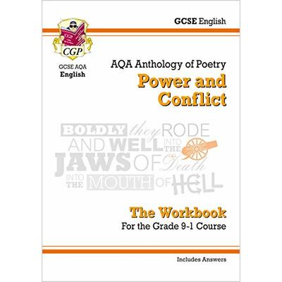 GCSE English Literature AQA Poetry Workbook: Power & Conflict Anthology (includes Answers): unbeatable revision for mocks and exams in 2021 and 2022 (CGP GCSE English 9-1 Revision)