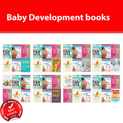 Baby Development books set Hypnobirthing Expecting Better What to Expect