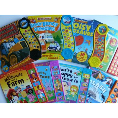 Interactive Sensory Sound Noisy Rhymes Baby Toddler play Books age 0-5 years NEW