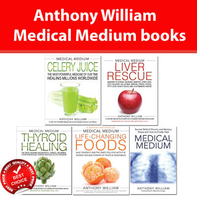Medical Medium Anthony William collection 5 books set Liver Rescue, Thyroid Heal
