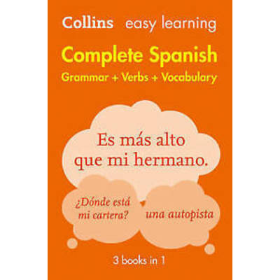 Easy Learning Spanish Complete Grammar, Verbs and Vocabulary (3 books in 1) by …