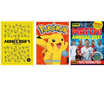 Childrens Kids Annual 2021 – Match Annual Pokemon Annual Minecraft Annual 2021