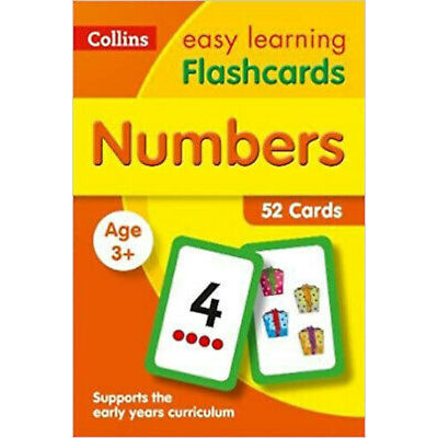 Numbers Flashcards: Prepare for Preschool with easy home learning (Collins Easy